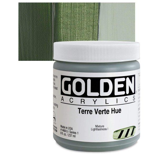 Golden Heavy Body Acrylic Paints 236ML Terre Verte Hue
