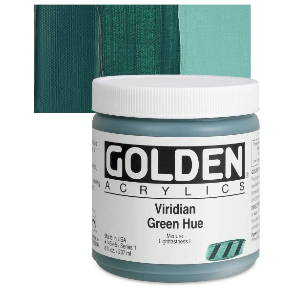 Golden Heavy Body Acrylic Paints 236ML Viridian Green Hue