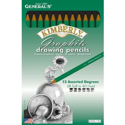 Graphite Drawing Pencils 12/Pkg-12 Degrees: 6B-4H