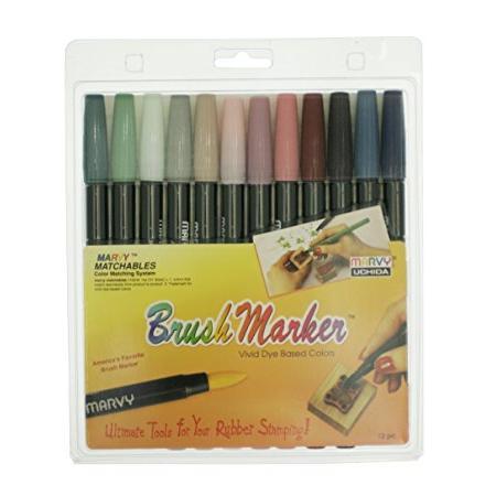 Uchida 1500-12H 12-Piece Renaissance Brush Marker Set