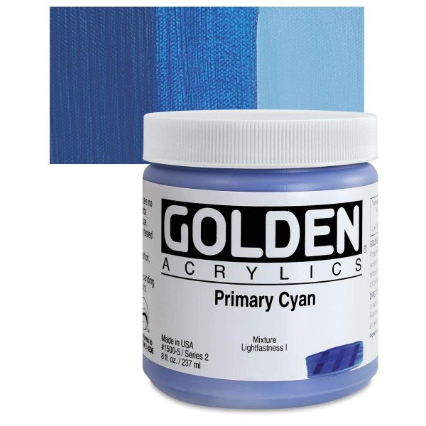 Golden Heavy Body Acrylic Paints 236ML Primary Cyan