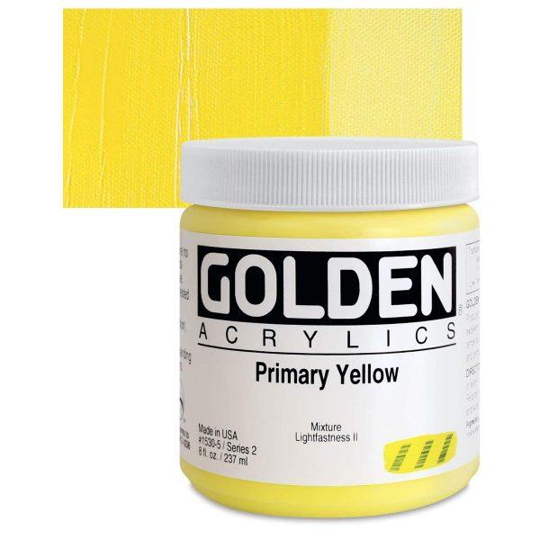 Golden Heavy Body Acrylic Paints 236ML Primary Yellow