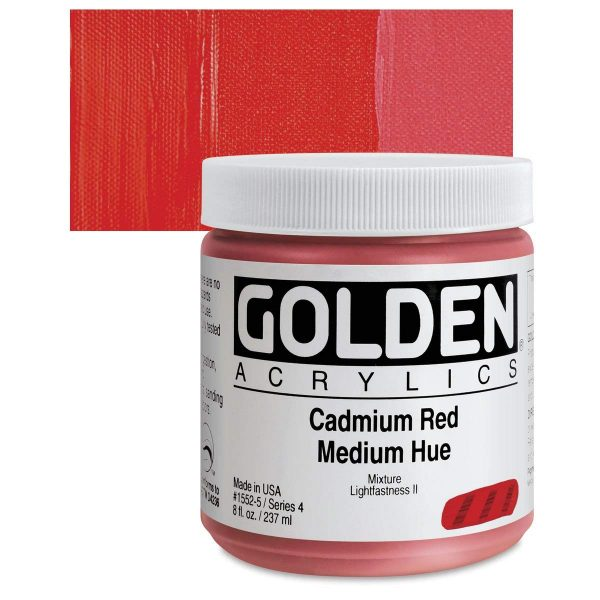 Golden Heavy Body Acrylic Paints 236ML Cadmium Red Medium Hue