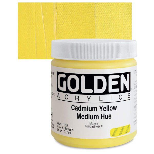 Golden Heavy Body Acrylic Paints 236ML Cadmium Yellow Medium Hue