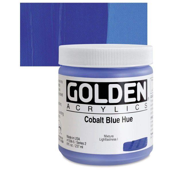 Golden Heavy Body Acrylic Paints 236ML Cobalt Blue Hue