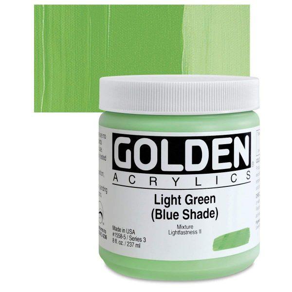 Golden Heavy Body Acrylic Paints 236ML Light Green Blue Shade