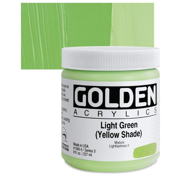 Golden Heavy Body Acrylic Paints 236ML Light Green Yellow Shade