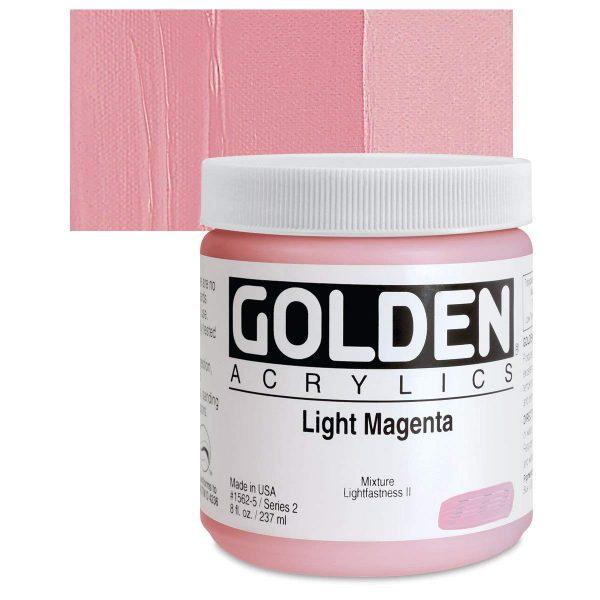 Golden Heavy Body Acrylic Paints 236ML Light Magenta