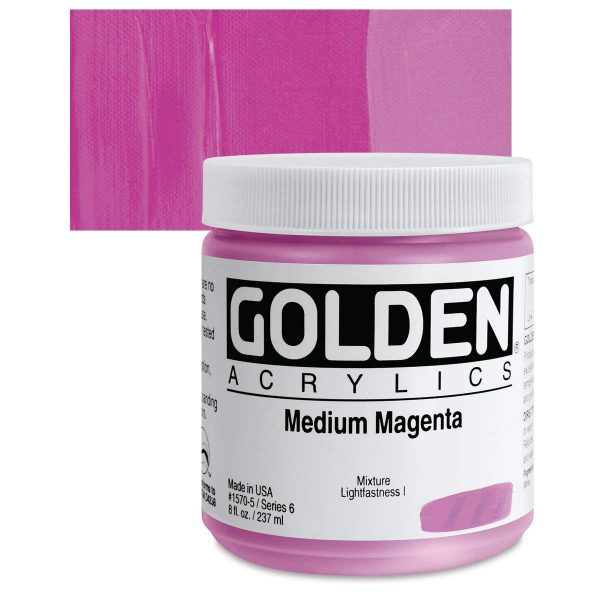Golden Heavy Body Acrylic Paints 236ML Medium Magenta