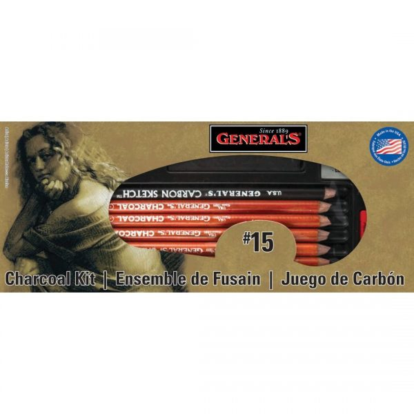 General's ®The Original Charcoal Drawing Kit - Art Set of 13 Pieces