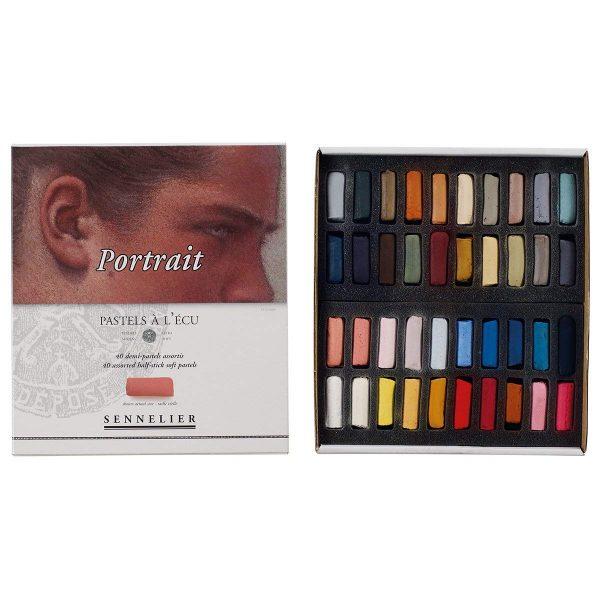 Sennelier Artist 40 Half Pastel Boxed Set, Portrait Colors, Half Sticks