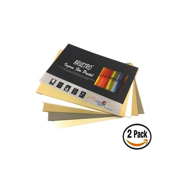 Brustro Artist'S Pastel Papers 160 Gsm A5 , 2 Packets (Each Packet Contains 25 sheets)