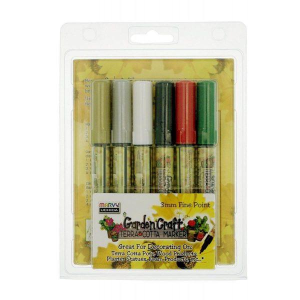 Uchida 210-6A 6-Piece Gardencraft Marker Set