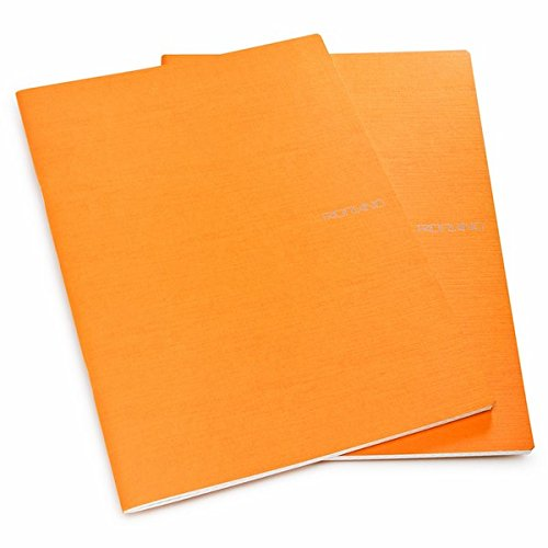 Fabriano Ecoqua A4 Staple Bound Lined Notebook Orange (Pack of 2)