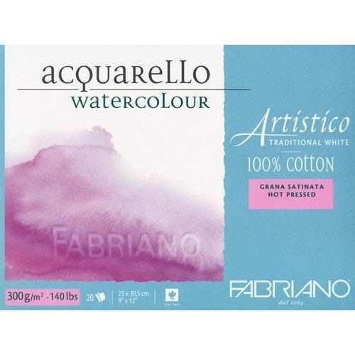 Fabriano Artistico Traditional White Watercolour Blocks HP 300 GSM 23 X 30.5 cm (