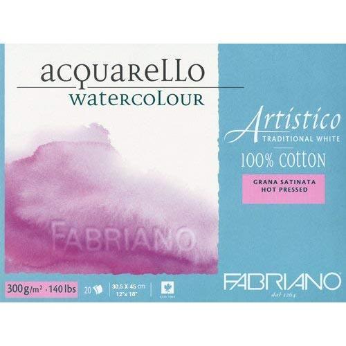 Fabriano Artistico Traditional White Watercolour Blocks HP 300 GSM 30.5 X 45 cm