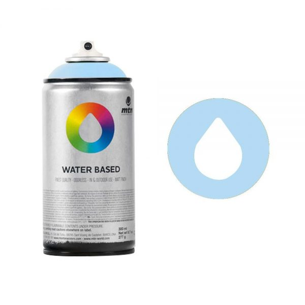 MTN Spain Water Based Spray Paints 300ML (Blue) - Phthalo Blue Light
