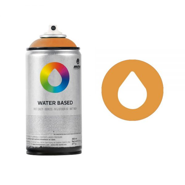 MTN Spain Water Based Spray Paints 300ML - Azo Orange Light