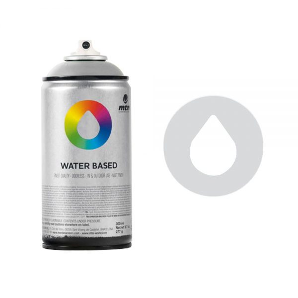 MTN Spain Water Based Spray Paints 300ML - Metal Color Silver