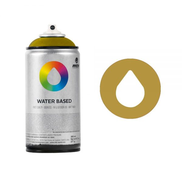 MTN Spain Water Based Spray Paints 300ML - Metal Color Gold