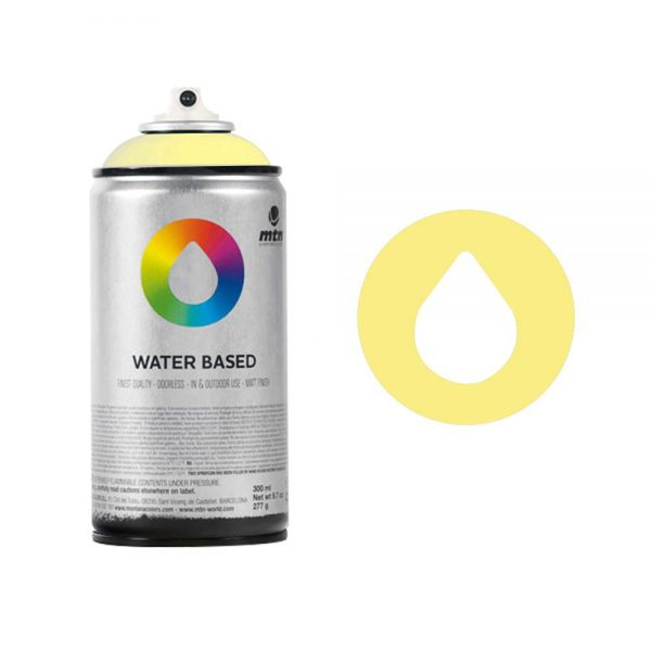 MTN Spain Water Based Spray Paints 300ML - Cadmium Yellow Light