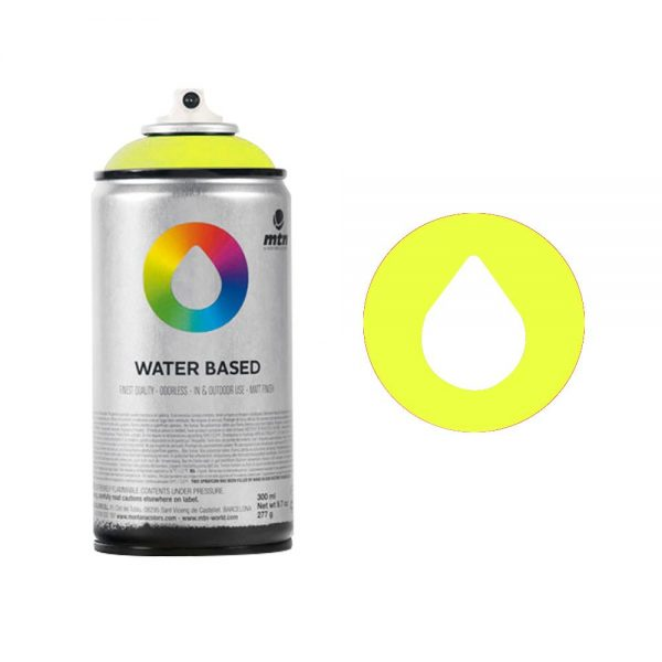 MTN Spain Water Based Spray Paints 300ML - Fluorescent Yellow