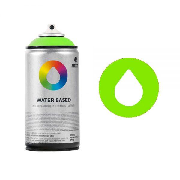 MTN Spain Water Based Spray Paints 300ML - Fluorescent Green