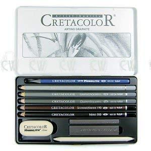 Cretacolor Artino Watersoluble Graphite Set of 10