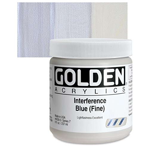 Golden Heavy Body Acrylic Paints 236ML Interference Blue (Fine)