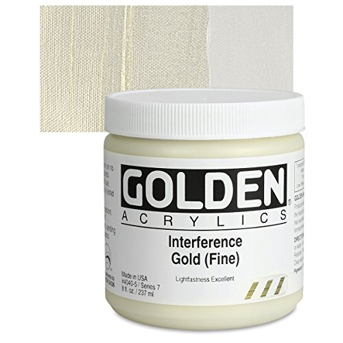 Golden Heavy Body Acrylic Paints 236ML Interference Gold (Fine)