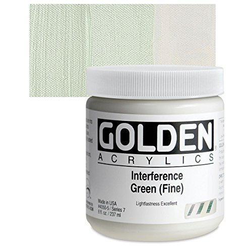 Golden Heavy Body Acrylic Paints 236ML Interference Green (Fine)