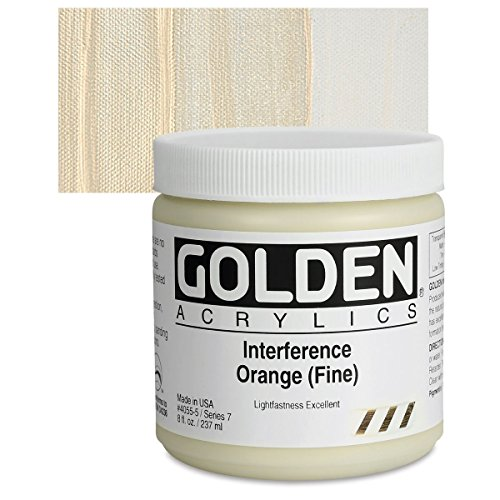Golden Heavy Body Acrylic Paints 236ML Interference Orange (Fine)