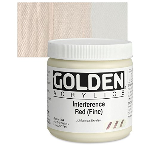 Golden Heavy Body Acrylic Paints 236ML Interference Red (Fine)