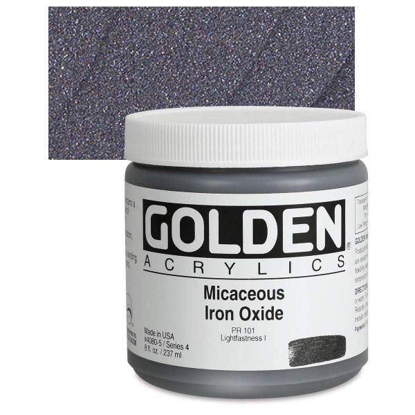 Golden Heavy Body Acrylic Paints 236ML Micaceous Iron Oxide