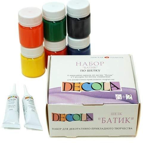 Nevskaya Palitra Decola Color Set for The Batik Technique - 8 Pieces