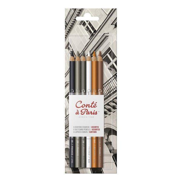 Conte A Paris Count Sketching Pencil Assorted Set of 6