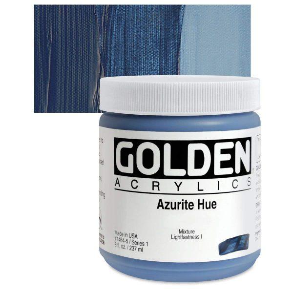 Golden Heavy Body Acrylic Paints 236ML Azurite Hue