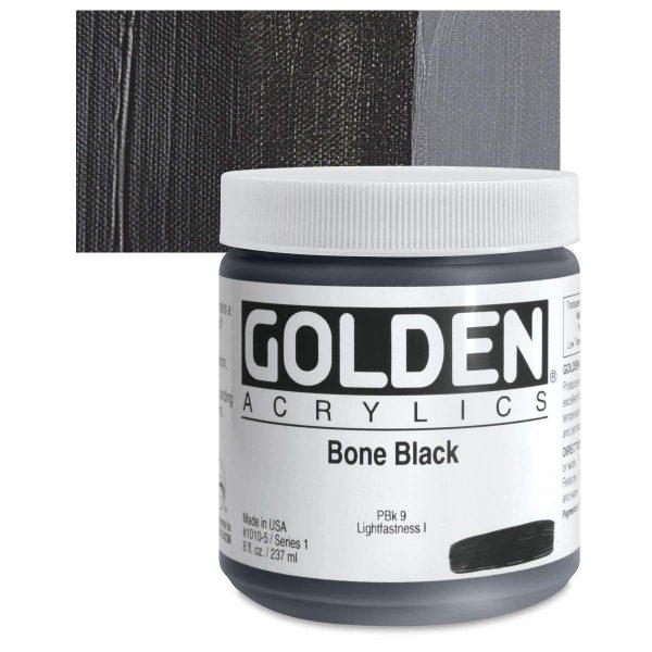 Golden Heavy Body Acrylic Paints 236ML Bone Black