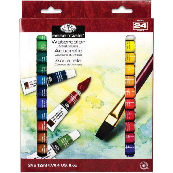 Royal & Langnickel Watercolor Artist Tube Paint, 12ml, 24-Pack