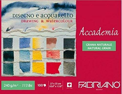 Fabriano Accademia Drawing & Watercolour Pad 240 GSM 27 X 35 CM