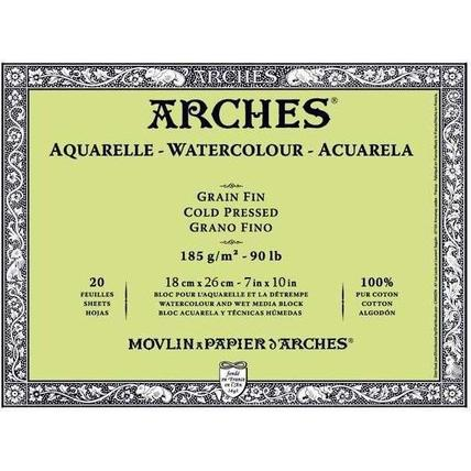 Arches Watercolour Blocks 185 GSM (OPEN STOCK)