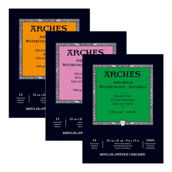 Arches Watercolor Gummed Pads 300 GSM (OPEN STOCK)