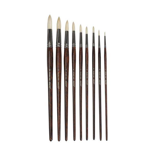 Brustro Artists Bristlewhite Round Brush Series 1008 Set of 9