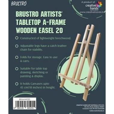Brustro Artists' Tabletop A-Frame Wooden Easel 20