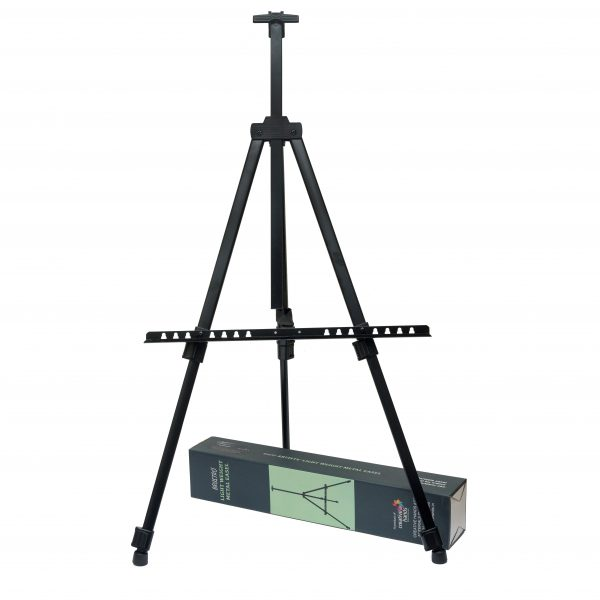 Brustro Artists' Portable Lightweight Metal Easel with Weather Proof Carry Bag