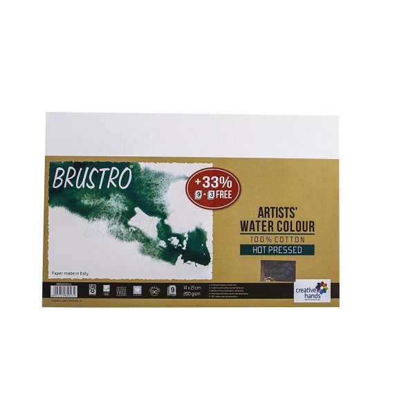 Brustro Artists Watercolour Paper 200 GSM 100% Cotton (OPEN STOCK)