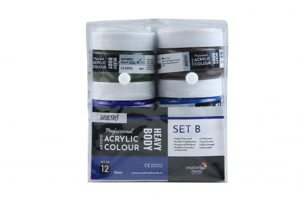 Professional Artists' HEAVYBODY Acrylic Paint Packs - 50ML Pack of 12 B
