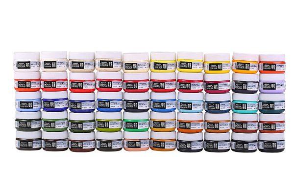 BRUSTRO Professional Artists' HEAVYBODY Acrylic Paint Packs - 50ML Pack of 50 - Regular Shades