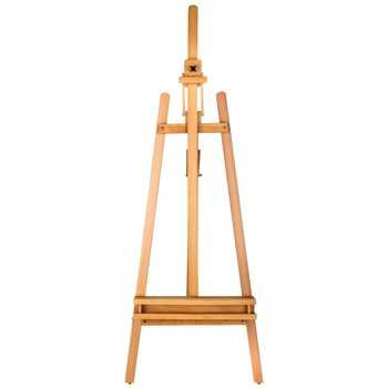 Brustro Artists' Lyre Heavy Weight Wooden Easel, Holds Canvases Upto 49""