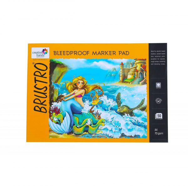 Brustro Bleedproof Marker Pad 70 GSM A4 ( Contains 50 Sheets )
